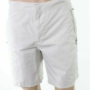 DKNY men's stretch zipper-pocket chino snap shorts